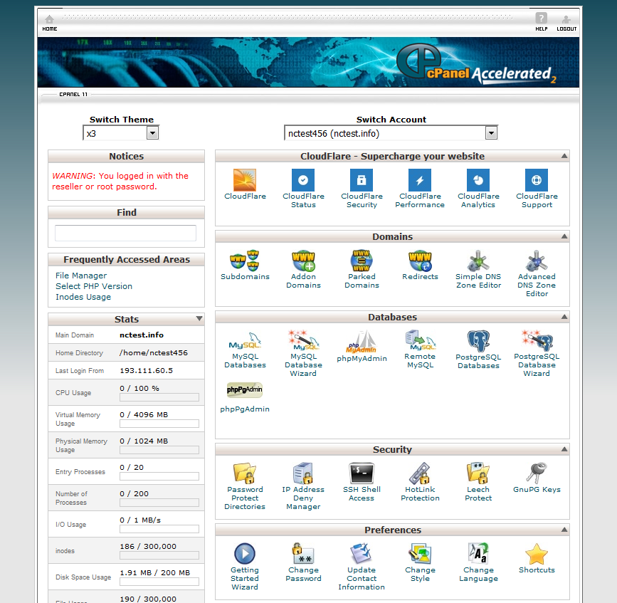 old cPanel pic